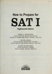 Cover of: How to Prepare for Sat I (Barron