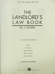 Cover of: The Landlord's Law Book | David Brown