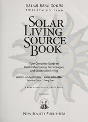 Cover of: Gaiam Real Goods solar living sourcebook |