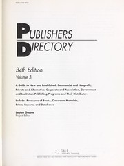 Cover of: Publishers directory | Louise Gagne