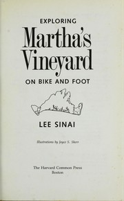 Cover of: Exploring Martha's Vineyard on bike and foot | Lee Sinai