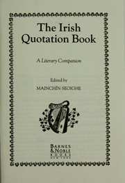 Cover of: The Irish Quotation Book |