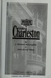 Cover of: The Insiders' guide to Greater Charleston