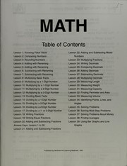 Cover of: Math | Vincent Douglas