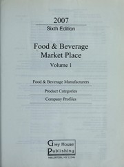 Cover of: Food & Bev: Volume 1 - Manufacturers (Thomas Food & Beverage Market Place: V.1 Food & Beverage Manufacturers) |