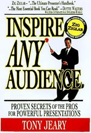 Cover of: Inspire any audience | Tony Jeary