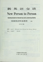Cover of: New Person to Person, Communicative Speaking and Listening Skills |