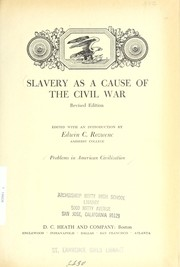 Cover of: Slavery as a cause of the Civil War | Edwin C. Rozwenc
