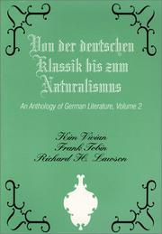 Cover of: An anthology of German literature | [edited by] Kim Vivian, Frank Tobin, Richard H. Lawson.