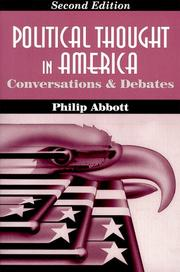 Cover of: Political thought in America | Philip Abbott