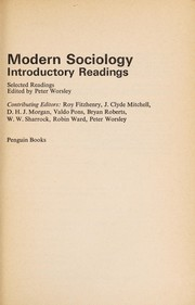 Cover of: Modern sociology
