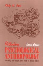 Cover of: Rethinking psychological anthropology