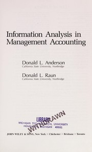 Cover of: Information analysis in management accounting |
