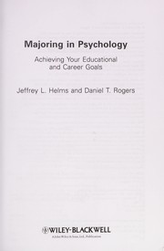 Cover of: Majoring in psychology | Jeffrey L. Helms