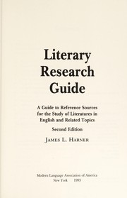 Cover of: Literary research guide | James L. Harner
