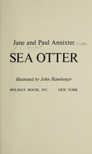 Cover of: Sea otter | Jane Annixter