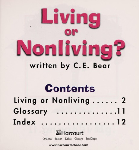 Living or Nonliving? by