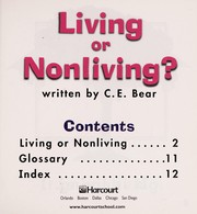 Cover of: Living or Nonliving? |