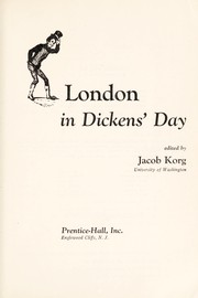 Cover of: London in Dickens' day