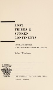 Cover of: Lost tribes & sunken continents