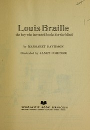 Cover of: Louis Braille the Boy Who Invented Books for the Blind |