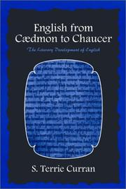 Cover of: English from Caedmon to Chaucer | Terrie Curran