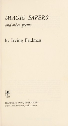 Magic papers by Irving Feldman