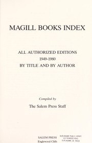 Cover of: Magill books index | compiled by the Salem Press Staff.