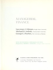 Cover of: Managerial finance | Gitman, Lawrence J.