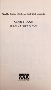 Cover of: Marco and that curious cat | John T. Foster