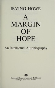 Cover of: A margin of hope : an intellectual autobiography