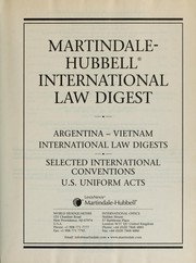 Cover of: Martindale-Hubbell International Law Digest |