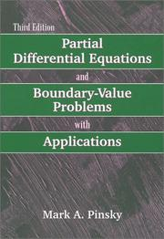 Cover of: Partial Differential Equations and Boundary Value Problems With Applications