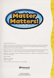 Cover of: Matter matters!, on-level reader grade 2 | Hm