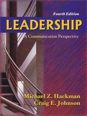 Cover of: Leadership | Michael Z. Hackman
