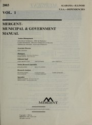 Mergent municipal & government manual