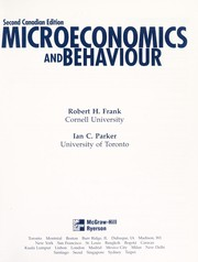 Cover of: Microeconomics and behaviour