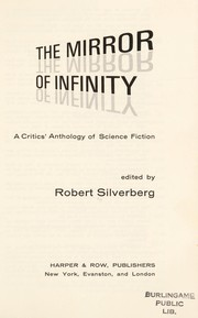 Cover of: The mirror of infinity: a critic's anthology of science fiction