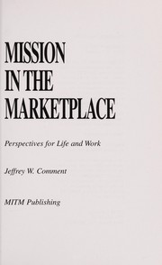 Cover of: Mission in the marketplace