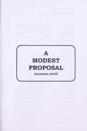 Cover of: A Modest Proposal |