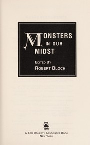 Cover of: Monsters in our midst