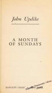 Cover of: Month of Sundays | John Updike