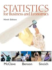 Statistics for business and economics by James T. McClave