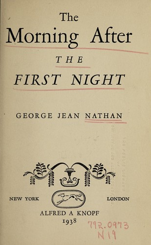 The morning after the first night by Nathan, George Jean