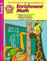 Cover of: Math (Junior Academic Series) | McGraw-Hill