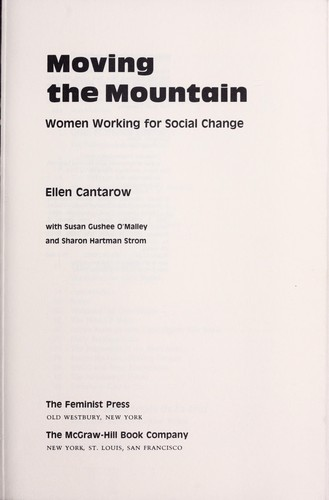 Moving the mountain : women working for social change by Ellen Cantarow