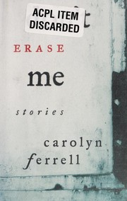 Cover of: Don't erase me | Carolyn Ferrell