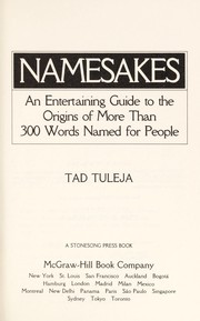 Cover of: Namesakes