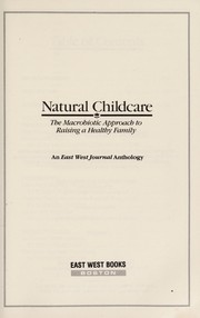 Cover of: Natural Childcare | East West Journal