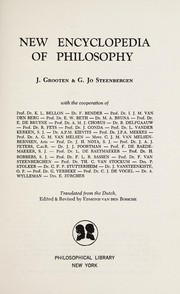 Cover of: New encyclopedia of philosophy